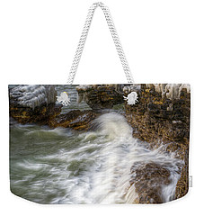 Ice And Waves Weekender Tote Bag
