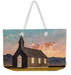 Iceland Chapel Weekender Tote Bag