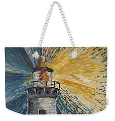 Weekender Tote Bag featuring the painting Illumination by Maria Langgle