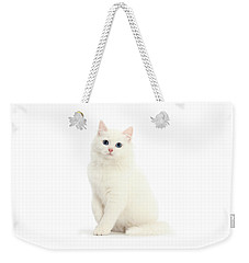 Weekender Tote Bag featuring the photograph I'm All White by Warren Photographic