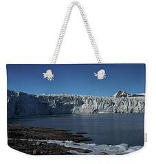 In Front Of A Glacier On Svalbard Weekender Tote Bag