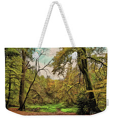 Weekender Tote Bag featuring the photograph In The Woods by Leigh Kemp