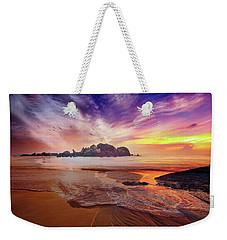 Incoming Tide At Sunset Weekender Tote Bag