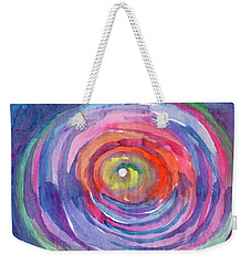 Weekender Tote Bag featuring the painting Infinity Abstraction by Dobrotsvet Art