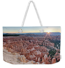 Weekender Tote Bag featuring the photograph Inspiration Point Sunrise Bryce Canyon National Park Summer Solstice by Nathan Bush