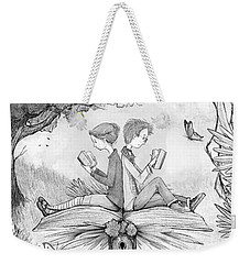 Into An Open Book Weekender Tote Bag