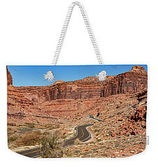 Weekender Tote Bag featuring the photograph Into The Red Cliffs by Andy Crawford