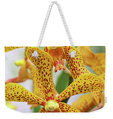 Intriguing Yellow Spider Orchids Weekender Tote Bag