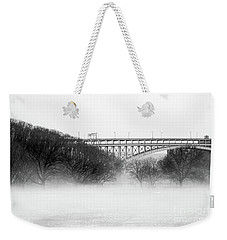 Weekender Tote Bag featuring the photograph Inwood Hill With Fog by Cole Thompson