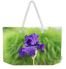 Weekender Tote Bag featuring the photograph Tall Bearded Iris Titans Glory  Flower by Tim Gainey