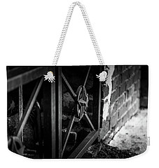 Weekender Tote Bag featuring the photograph Iron Gate In Bw by Doug Camara