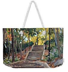 Isham Park Steps New York Autumn Weekender Tote Bag
