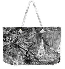 Weekender Tote Bag featuring the digital art It Has Been A Busy Day by Angie Tirado