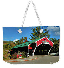 Weekender Tote Bag featuring the photograph Jackson Covered Bridge by Debbie Stahre