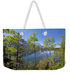 Weekender Tote Bag featuring the photograph Jackson Lake by Sue Collura