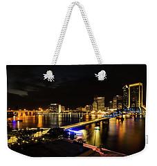 Jacksonville Skyline By Night Weekender Tote Bag