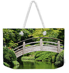 Weekender Tote Bag featuring the photograph Japanese Garden Arch Bridge In Springtime by Debi Dalio