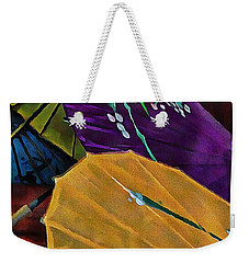 Weekender Tote Bag featuring the photograph Japanese Parasol Harmony by Dorothy Berry-Lound