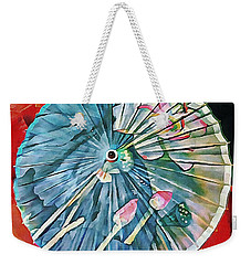 Weekender Tote Bag featuring the photograph Japanese Parasol Study 1 by Dorothy Berry-Lound
