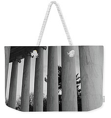 Jefferson Memorial In Black And White Weekender Tote Bag