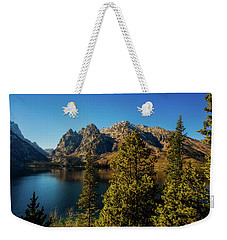 Weekender Tote Bag featuring the photograph Jenny Lake by Pete Federico