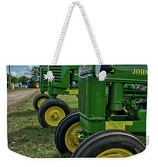 Weekender Tote Bag featuring the photograph John Deer's In A Line by Mark Dodd