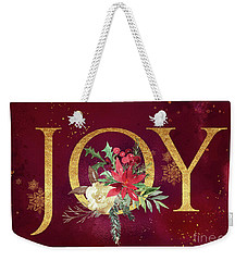 Joy Holiday Art  Weekender Tote Bag