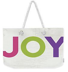 Weekender Tote Bag featuring the mixed media Joy In Color- Art By Linda Woods by Linda Woods