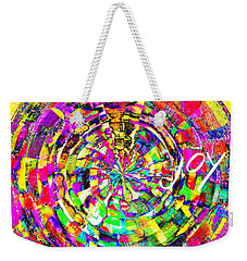 Weekender Tote Bag featuring the mixed media Joy by Jessica Eli
