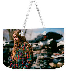 Weekender Tote Bag featuring the photograph Junk by Carl Young