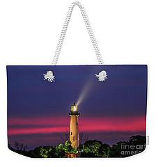 Jupiter Light Beam Weekender Tote Bag