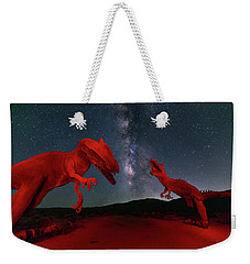 Weekender Tote Bag featuring the photograph Jurassic by Tassanee Angiolillo