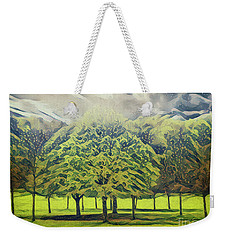 Weekender Tote Bag featuring the photograph Just Trees by Leigh Kemp