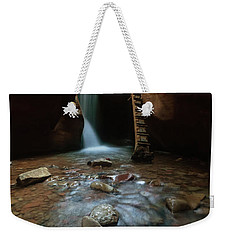 Weekender Tote Bag featuring the photograph Kanarraville Falls by Tassanee Angiolillo