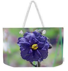Weekender Tote Bag featuring the photograph Kangaroo Apple, Solanum Aviculare by Elaine Teague