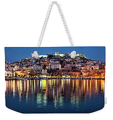 Kavala Town At Night Weekender Tote Bag