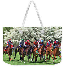 Keeneland Down The Stretch Weekender Tote Bag