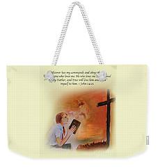 Keeps My Commandments Weekender Tote Bag