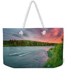 Weekender Tote Bag featuring the photograph Kenai River Alaska Sunset by Nathan Bush