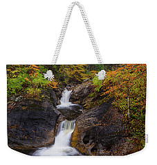 Weekender Tote Bag featuring the photograph Kent Falls Foliage 2 by Bill Wakeley