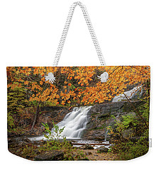 Weekender Tote Bag featuring the photograph Kent Falls Foliage 3 by Bill Wakeley