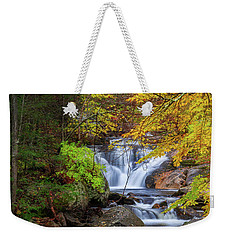 Weekender Tote Bag featuring the photograph Kent Falls Foliage Square by Bill Wakeley