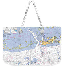 Key West Harbor And Approaches, Noaa Chart 11441 Weekender Tote Bag
