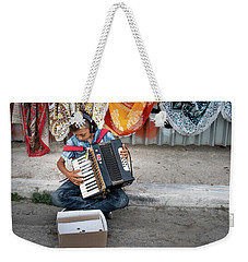 Kid Playing Accordeon Weekender Tote Bag