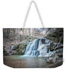 Kilgore Falls In Winter Weekender Tote Bag