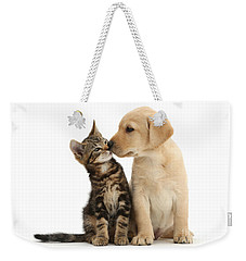 Weekender Tote Bag featuring the photograph Kisses For My Darling by Warren Photographic