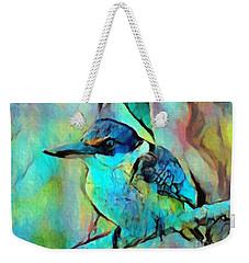 Weekender Tote Bag featuring the painting Kookaburra Blues by Chris Armytage