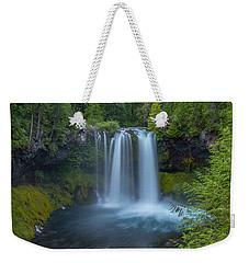 Weekender Tote Bag featuring the photograph Koosah Falls, Summer by Matthew Irvin