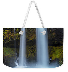 Weekender Tote Bag featuring the photograph Koosha Falls In Fall by Matthew Irvin