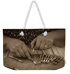 Weekender Tote Bag featuring the photograph Lacemaker 1364 by Guy Whiteley
